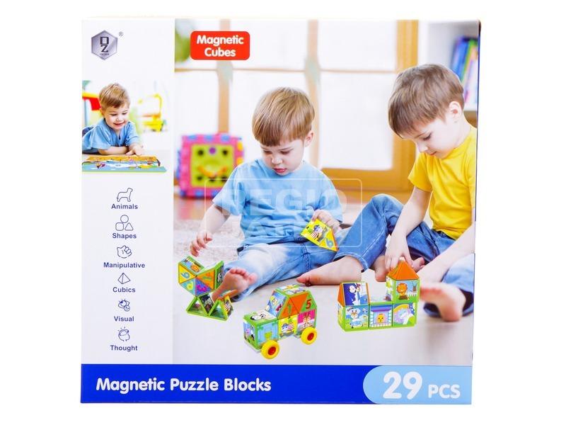 kép nagyítása Mágneses építőjáték 29 db /doboz