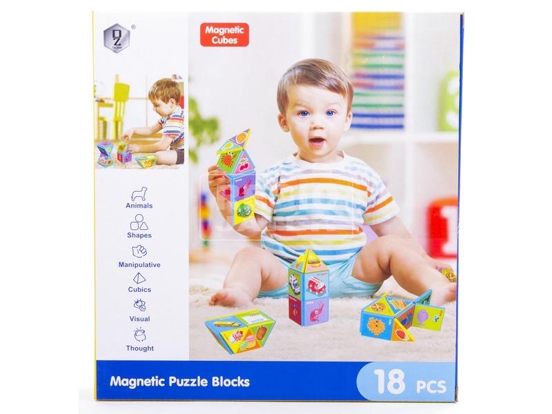 kép nagyítása Mágneses építőjáték 18 db /doboz
