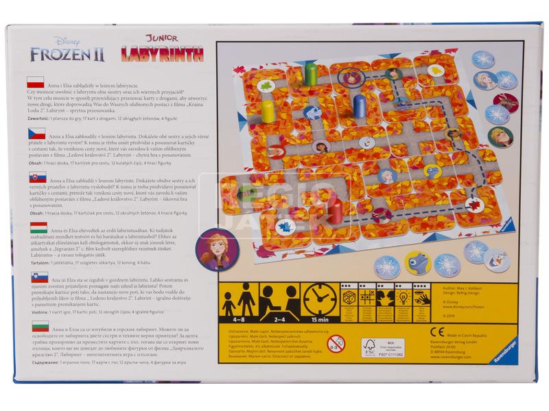 kép nagyítása Jégvarázs 2 Junior Labirintus társasjáték