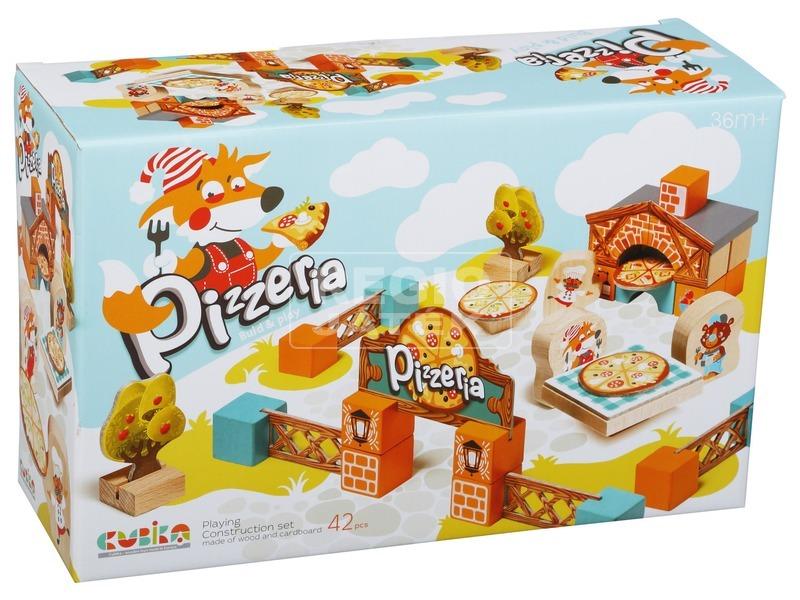 Fa játékszett - Pizzéria