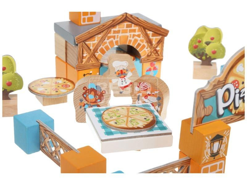 kép nagyítása Fa játékszett - Pizzéria