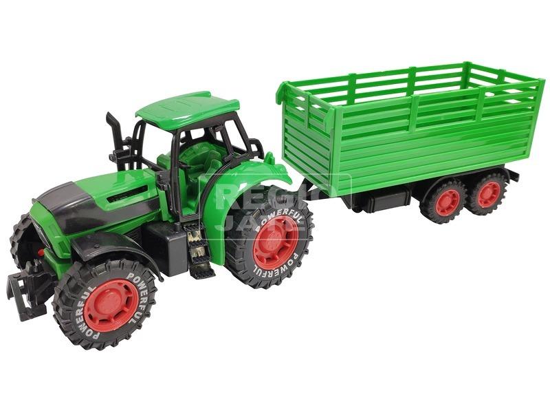 Lendkerekes traktor utánfutóval, 2 féle, 2 szín
