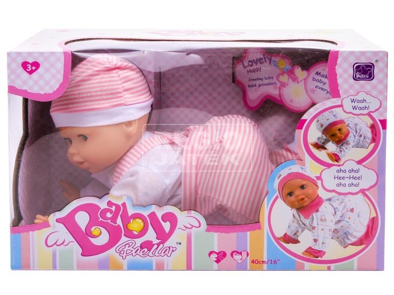 kép nagyítása Hangot adó kúszó baba, 40 cm