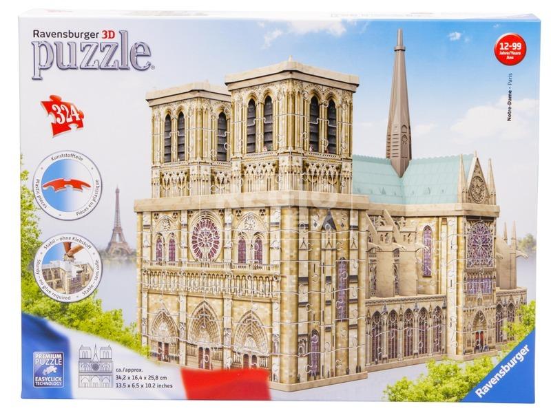 kép nagyítása Puzzle 3D 324 - Notre Dame