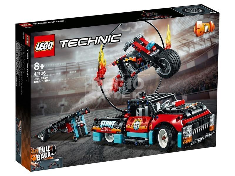 LEGO® Technic Kaszkadőr teherautó és motor 42106