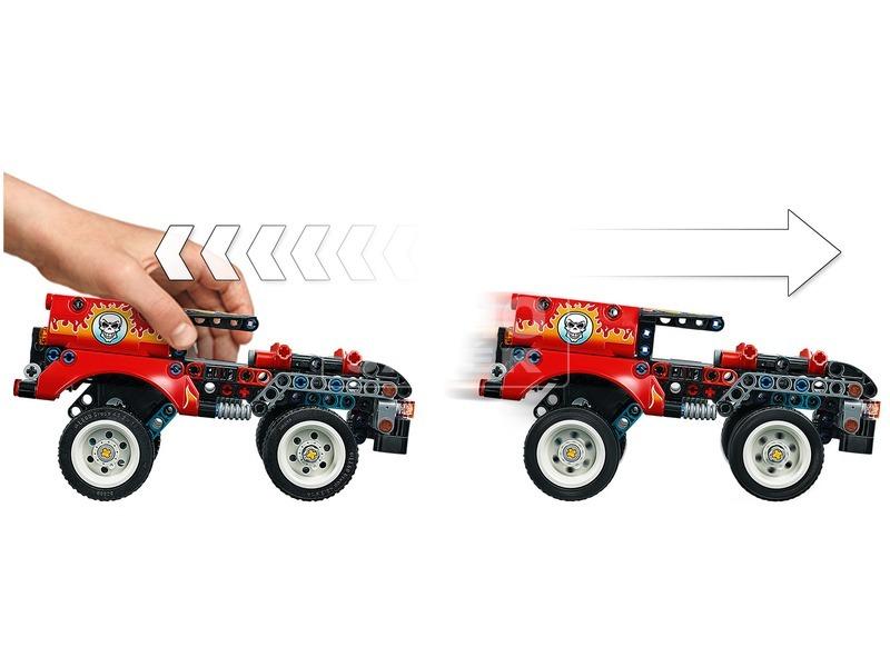 kép nagyítása LEGO® Technic Kaszkadőr teherautó és motor 42106