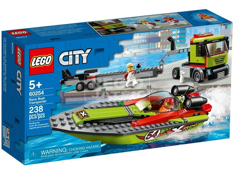 LEGO City Great Vehicles 60254 Versenycsónak szállító