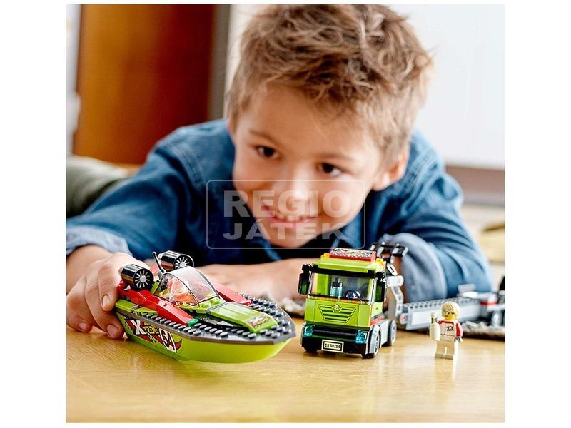 kép nagyítása LEGO® City Great Vehicles Versenycsónak szállító 60254