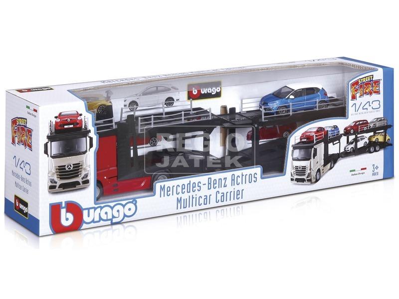 Bburago Street Fire Mercedes autószállító, 1:43