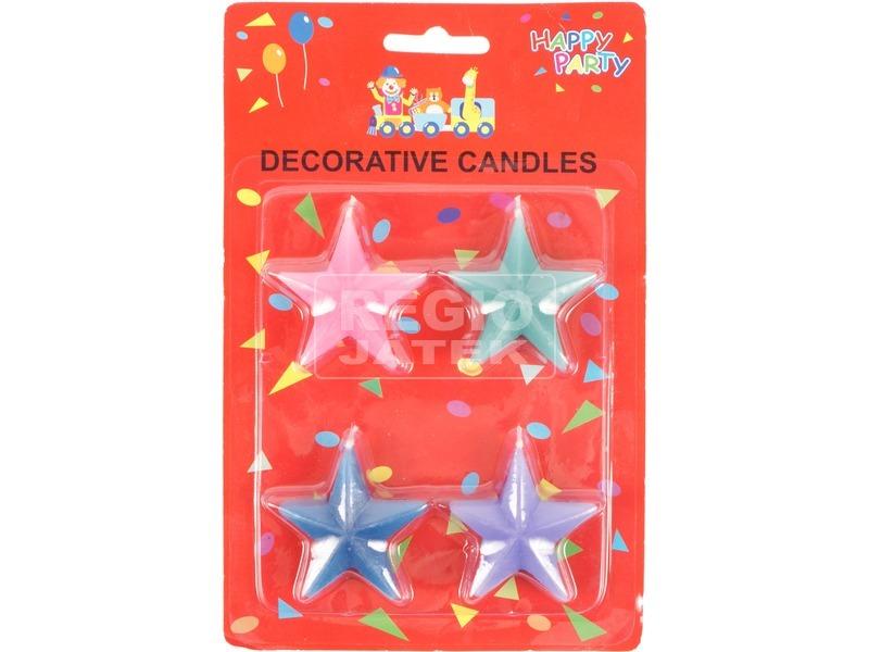 Csillag gyertya 4 darabos készlet