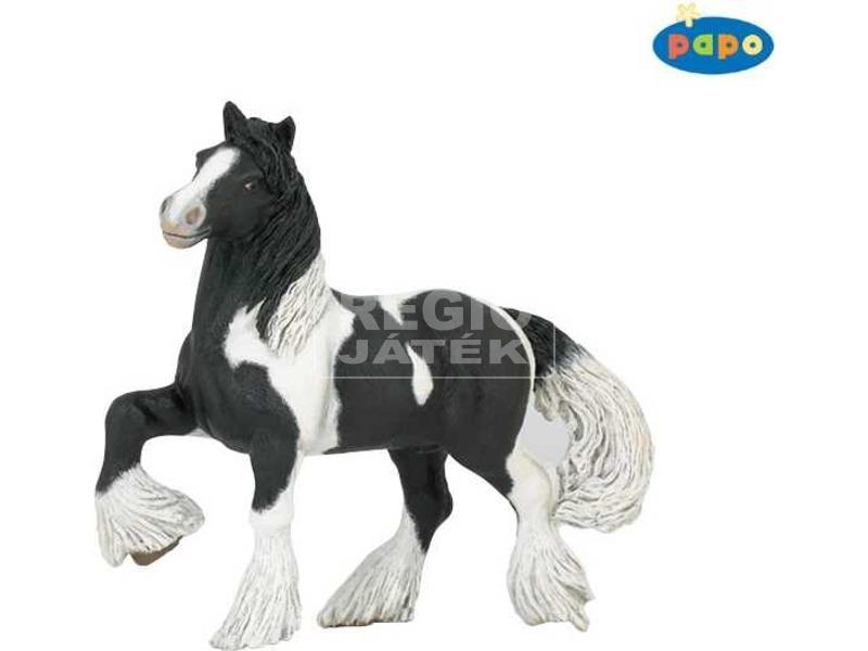 Papo fekete-fehér ló figura