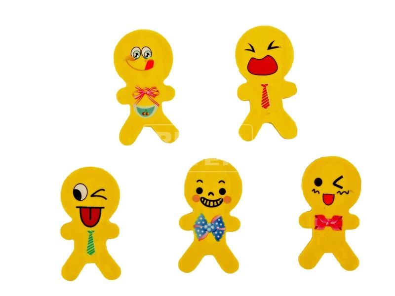 Smiley radír figura - 5 cm, többféle