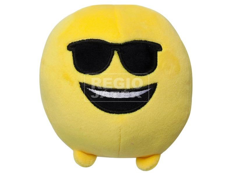 Imoji plüss labda - napszemüveges, 11 cm