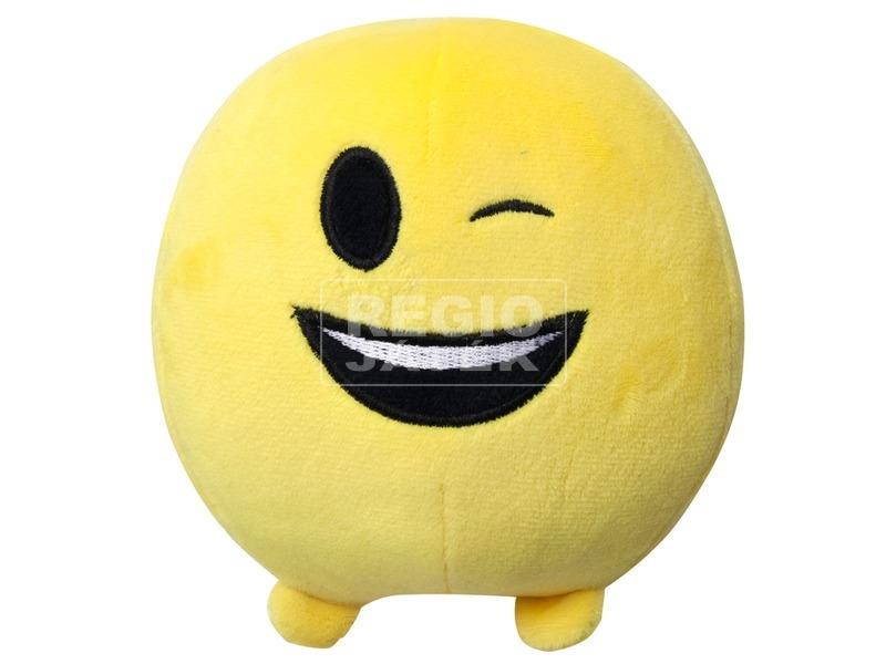 Imoji plüss labda - kacsintó, 11 cm