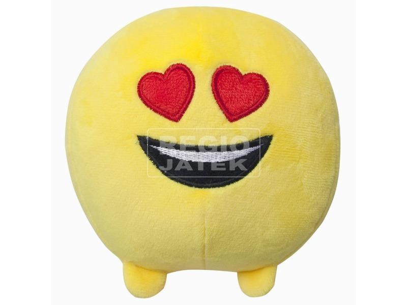 Imoji plüss labda - szívecskés szemű, 11 cm
