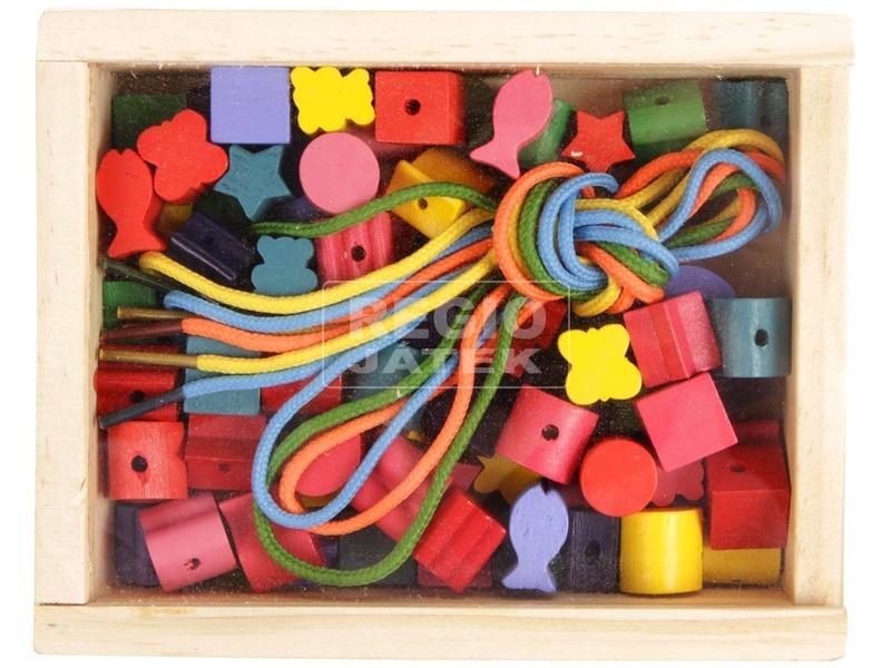 Fa gyönyfűző készlet dobozban - kicsi