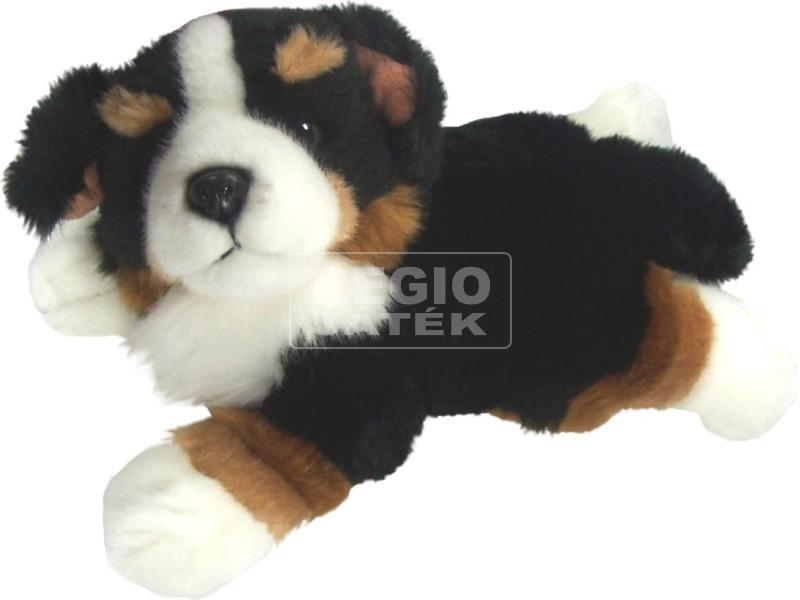 Berni pásztor kutya fekvő plüssfigura - 23 cm