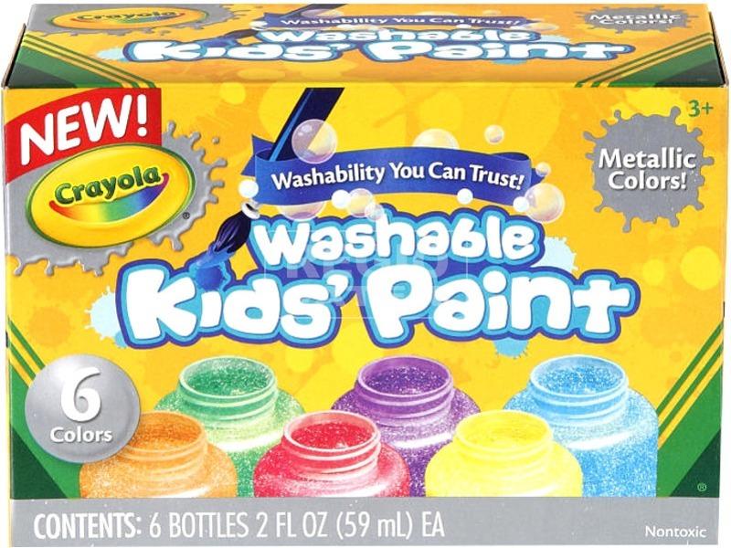 Crayola: metálszínű 6 darabos festék készlet