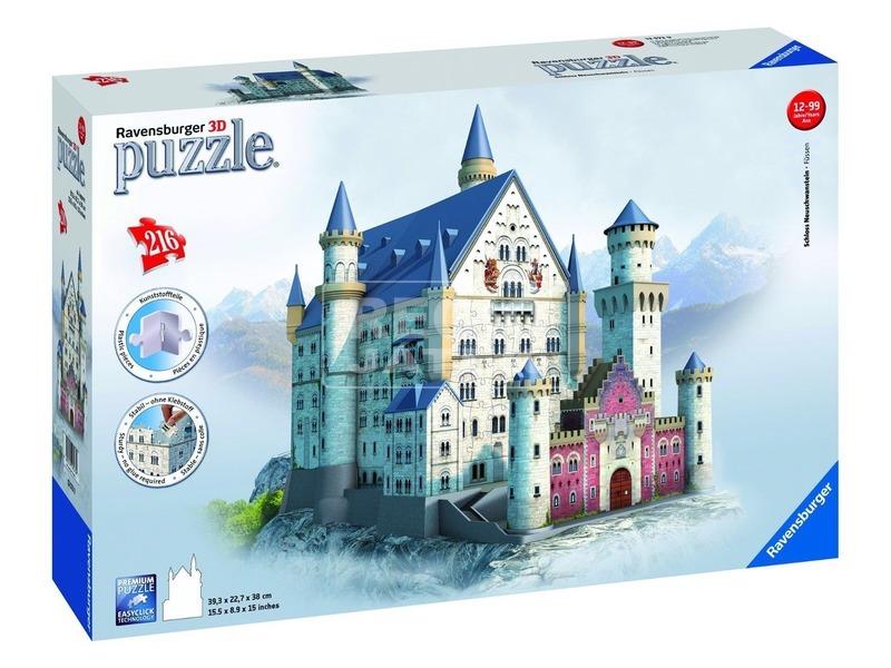 Puzzle 3D 216 db - Neuschwanstein kastély