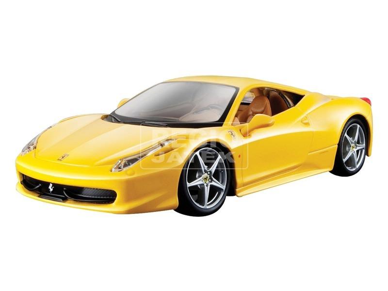 Bburago Ferrari 1:24 458 R&P, sárga