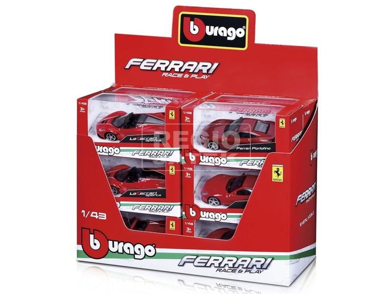 Bburago Race Play Ferrari autó - 1:43, többféle