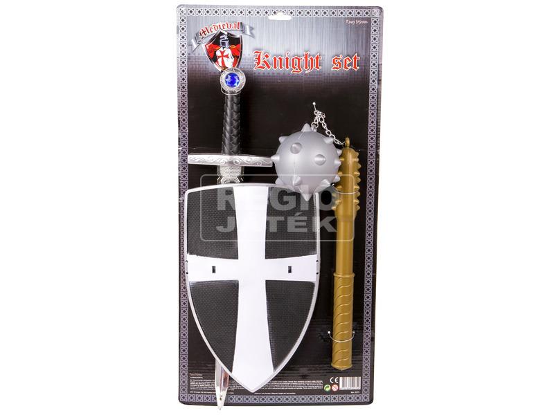 Lovag készlet karddal és buzogánnyal