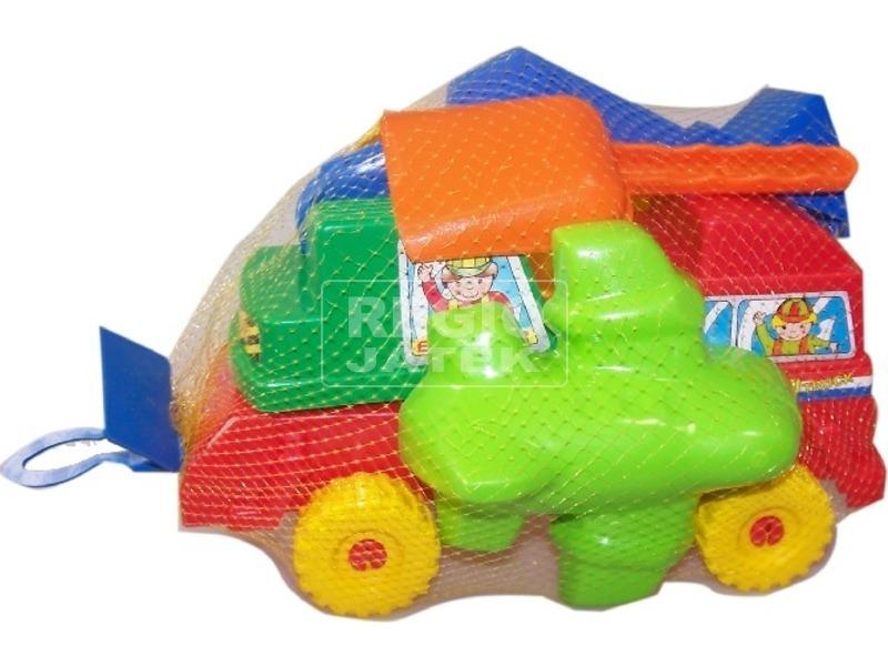 Homokozó készlet teherautóval - többféle
