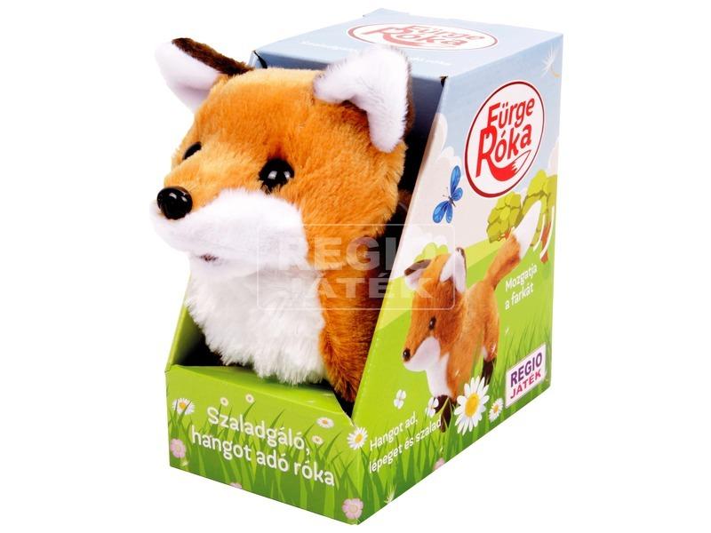 Szaladgáló róka plüssfigura - 20 cm