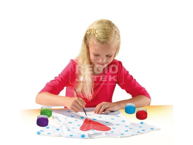 kép nagyítása SES textilfestő készlet pólóval