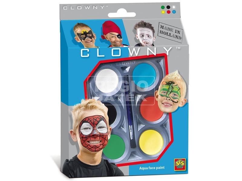 SES Clowny hősök arcfestő 6 darabos készlet