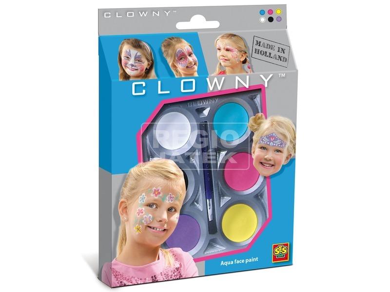 SES Clowny arcfestő lányoknak 6 darabos készlet