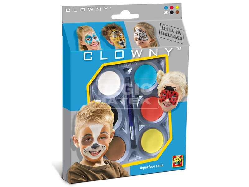 SES Clowny állatok arcfestő 6 darabos készlet