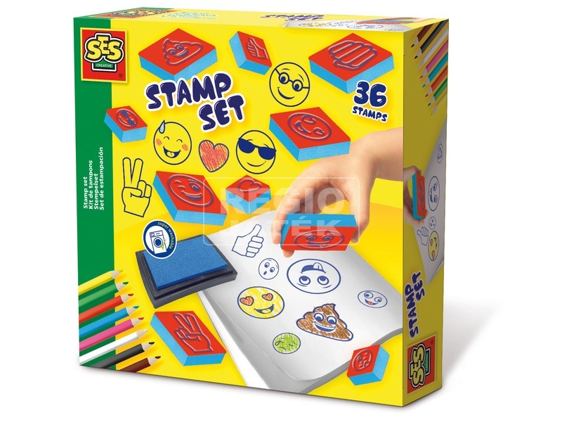 a0437fc2b1 REGIO Játék | Emoji nyomda 36 darabos készlet