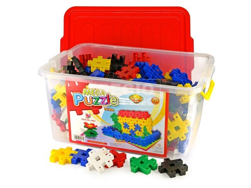 kép nagyítása Mega Puzzle műanyag 204 darabos építőjáték