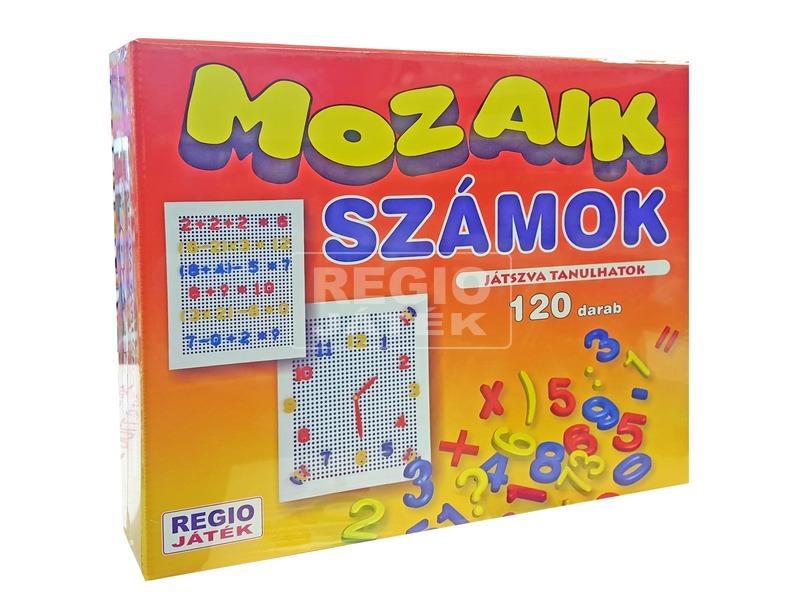 Mozaik számok 120 darabos készlet