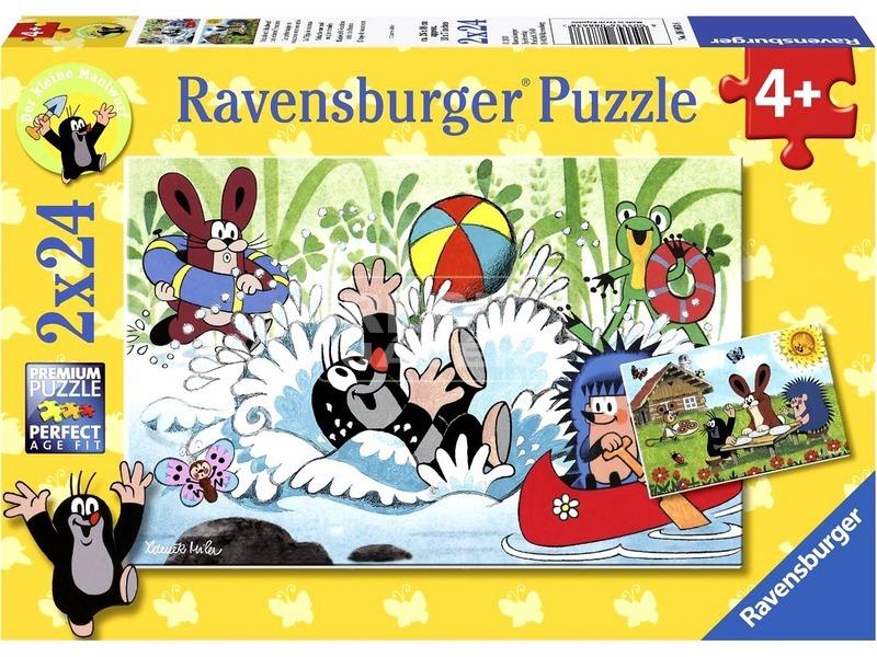 Puzzle 2x24db Kisvakond nyaral