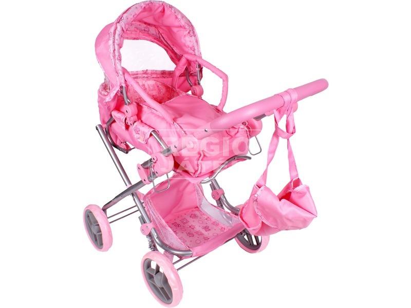 Macis babakocsi mély táskával - rózsaszín 44b362d9f4