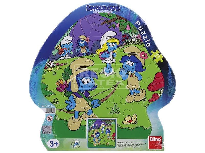 Hupikék törpikék 3 - 21 darabos puzzle