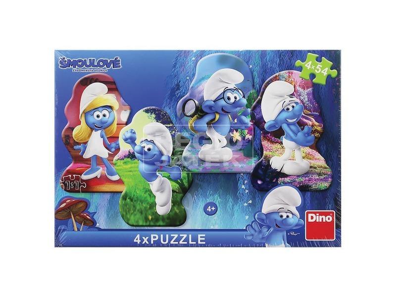 Hupikék törpikék 3 - 4 x 54 darabos puzzle