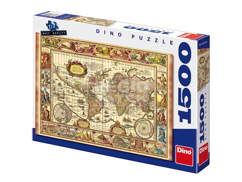 Világtérkép és a hét csoda 1500 darabos puzzle