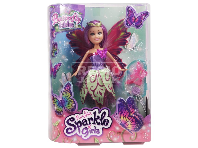 Sparkle Girlz pillangó baba - 30 cm, többféle