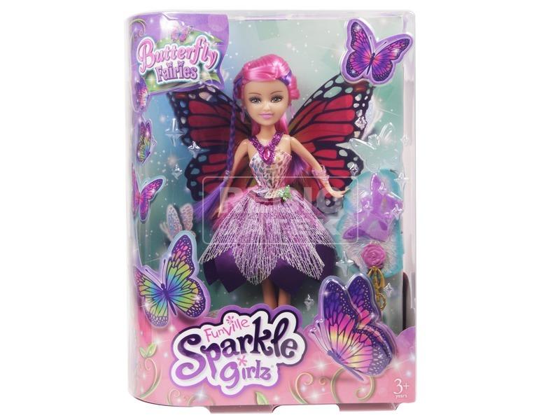kép nagyítása Sparkle Girlz pillangó baba - 30 cm, többféle