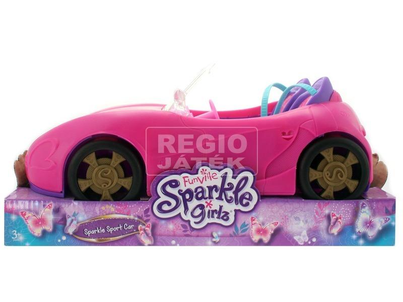 Sparkle Girlz - Rózsaszín kabrió autó