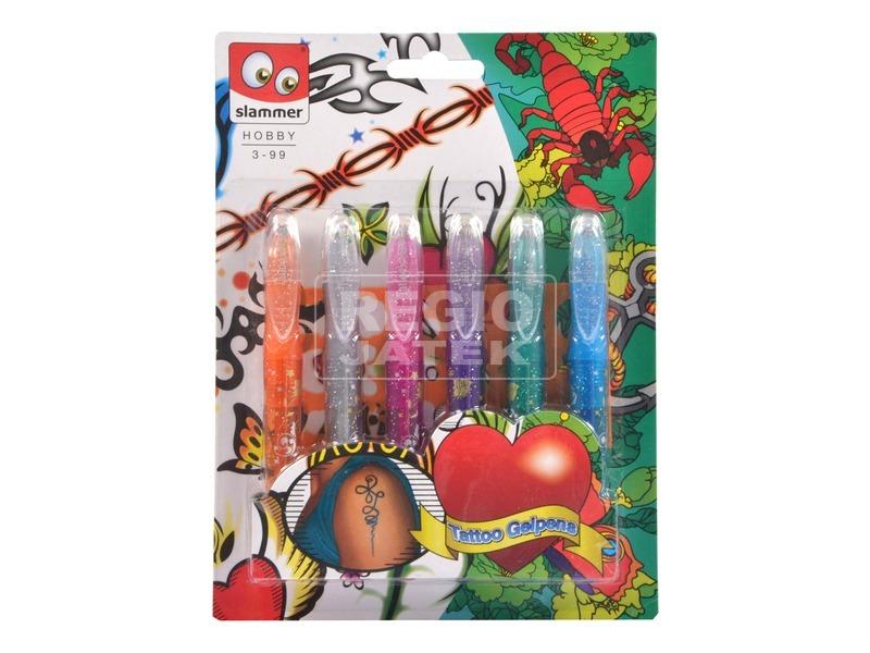 kép nagyítása Tetováló filctoll 6 darabos készlet