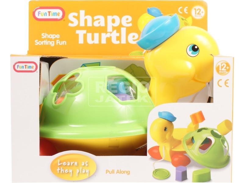 Húzható teknős formakereső bébijáték
