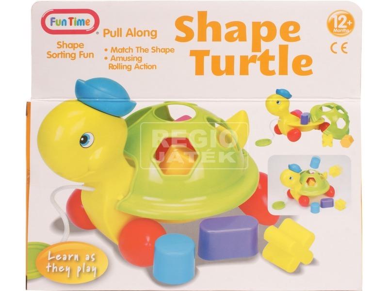 kép nagyítása Húzható teknős formakereső bébijáték