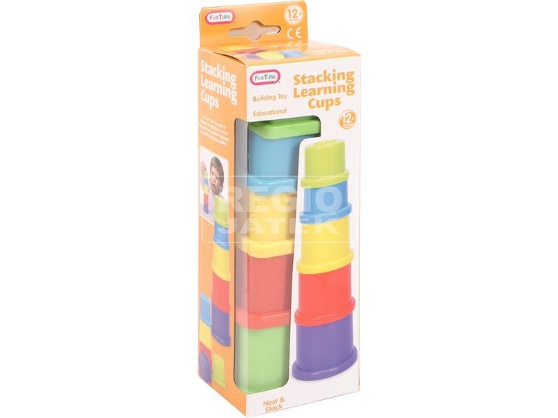 Csészék 5 darabos toronyépítő
