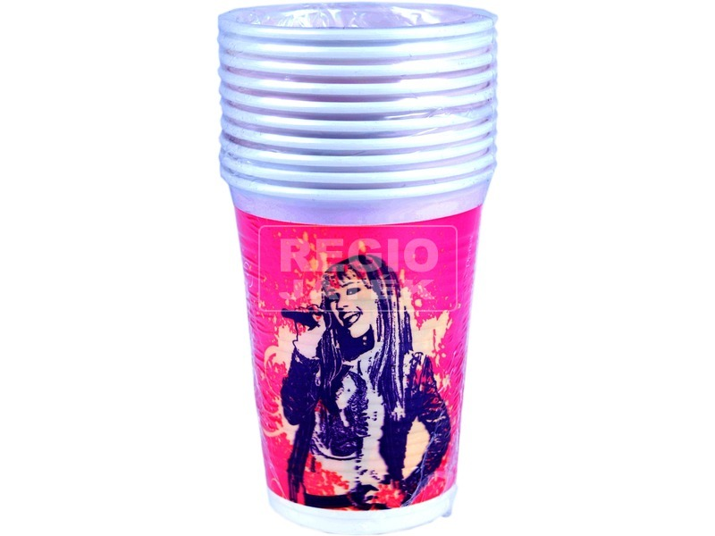 Hannah Montana 10 darabos műanyag pohár - 2 dl
