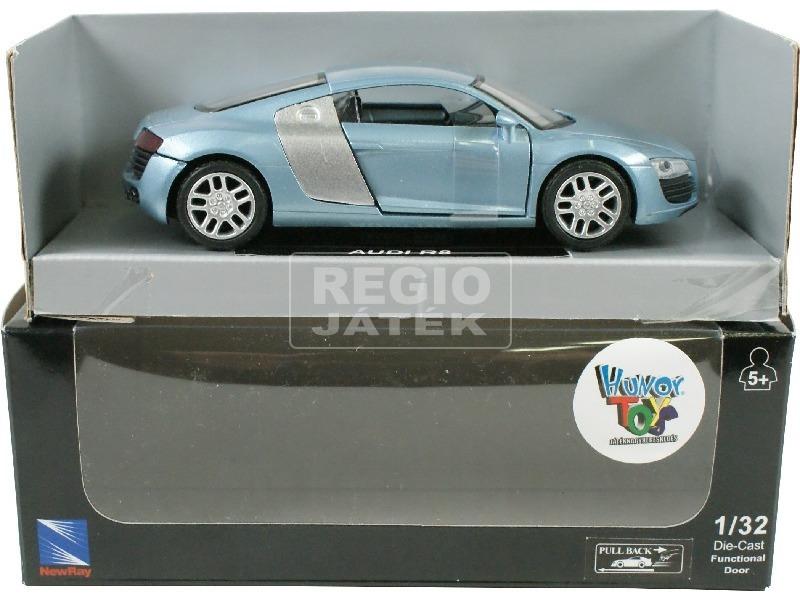 Audi R8 hátrahúzós autó 1:32