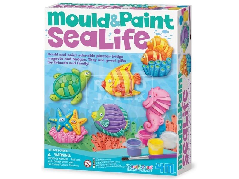 4M tengeri állatok gipszkiöntő készlet